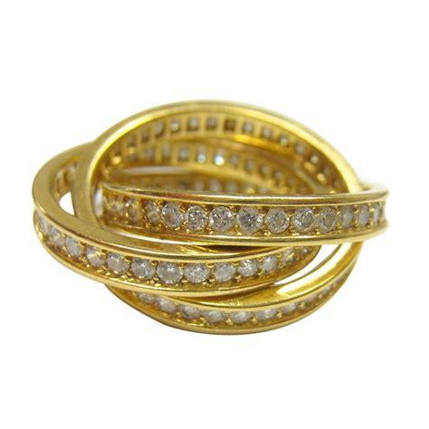 cartier diamond russian wedding ring bling rings pinterest