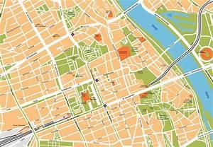 Warsaw Illustrator Map