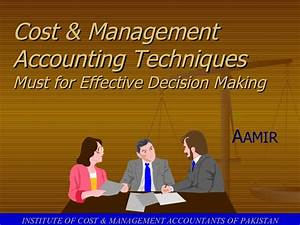 Cost & Management Accounting Techniques