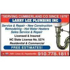 larry leeplumbing  plumber fayetteville nc