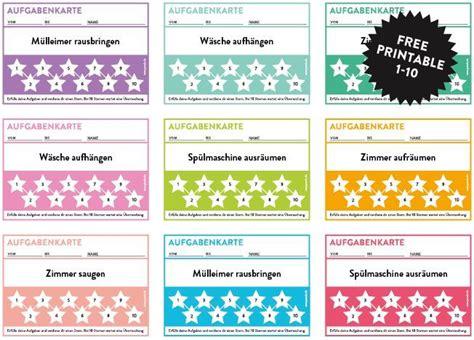 Aufgabenkarten Für Kinder Zum Freien Download