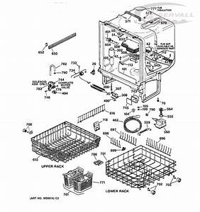 Ge Dishwasher Quiet Power 3 Explanation   Ge Dishwasher Quiet Powr 3 Parts List