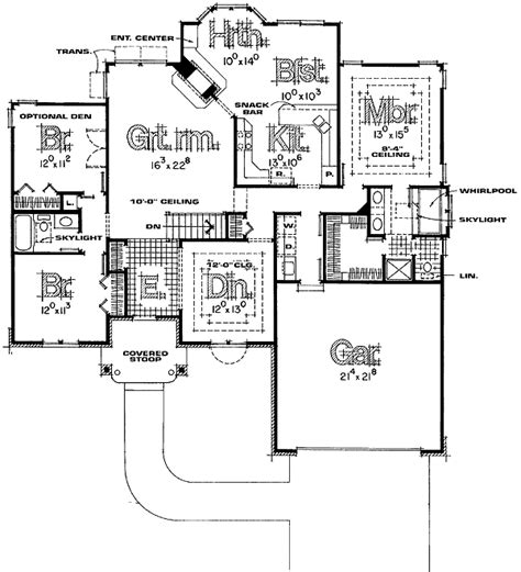 Beautiful Split Bedroom Floor Plans For Hall, Kitchen
