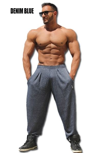 style  mens workout gym pant mens bodybuilding baggies   small defect big