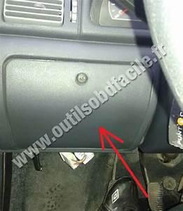 Obd2 Connector Location In Fiat Uno  2010 -