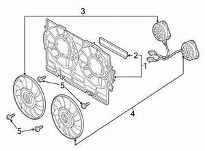 2015 Audi Q5 Engine Cooling Fan Shroud  Front   Liter  Gas