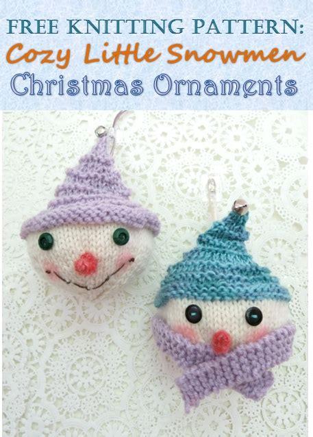 christmas knitted cozy free knitting pattern cozy snowmen ornaments feltmagnet