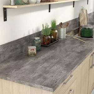 Béton Ciré Sur Plan De Travail : b ton cir dans la cuisine c t maison ~ Nature-et-papiers.com Idées de Décoration
