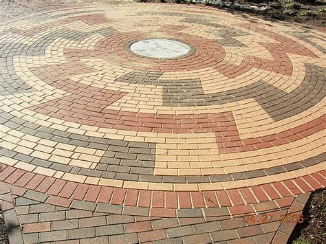 circular paving patterns paver patterns