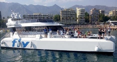 Group Catamaran Marbella by Fiesta En Barco Banus Marbella Catamaran Fly Blue Costa