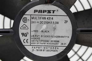 3  Ebm Papst Multifan 4314 24v Dc5w 120mm Plastic