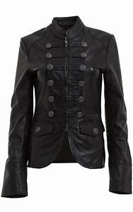 WOMENS MILITARY STYLE LEATHER BLAZER /JACKET, WOMENS ...
