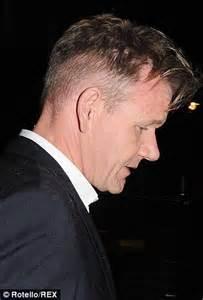 gordon ramsay shows  slicked  hair  night