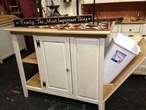 kitchen island with trash storage build a kitchen island with trash storage diy projects