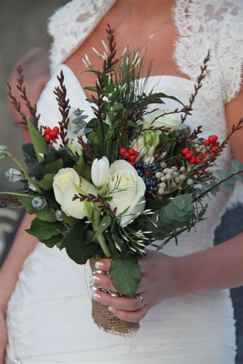 The Flower Magician Winter Rustic Vintage Wedding Bouquet