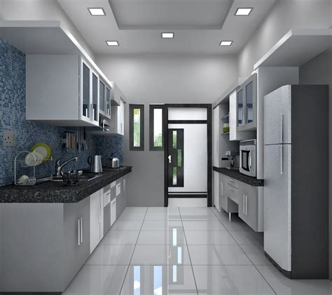 2 wall kitchen designs the kitchen with monochrome color appearance two side 3823