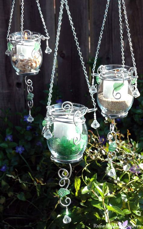 Hanging Candle Holders by Summer Lights Make A Trio Of Hanging Candle Holders