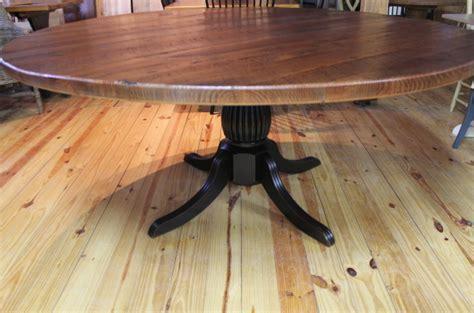72 Round Oak Farm Table   ECustomFinishes