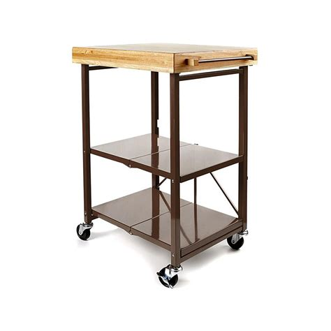Origami Kitchen Cart by Origami Folding Kitchen Island Cart With Casters Shop