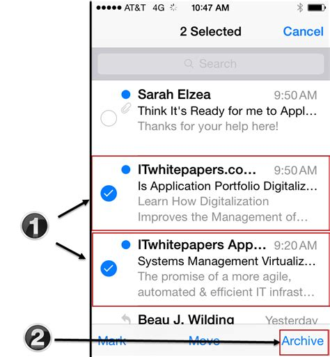search email on iphone ios 7 1 where do emails go to when i archive them in