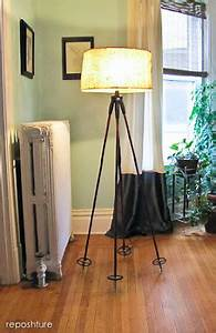 Reposhture studio ski pole floor lamp tutorial for Floor lamp under 20