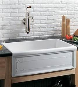 Herbeau 4614 Luberon Art Nouveau Fireclay Farmhouse Kitchen Sink French Ivory (Pictures in