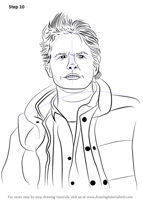 learn   draw marty mcfly characters step  step