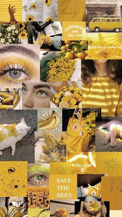 Aesthetic Yellow Wallpapers Collage Chill Teenager Cool