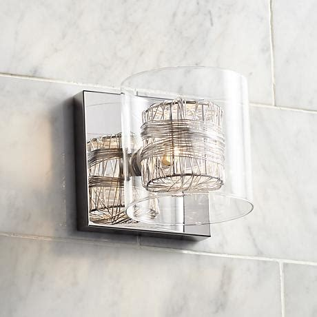 possini euro design wrapped wire 5 quot high 1 light wall sconce t8913 lsplus com