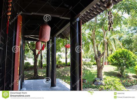casa cinese il terrazzo della casa antica cinese di stile immagine