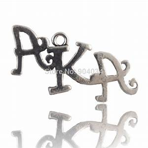 antique silver greek aka letter charm in charms from With greek letter jewelry charms