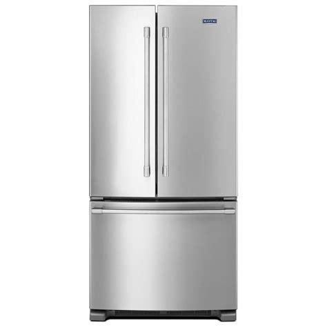 Maytag 33inch Wide French Door Refrigerator  22 Cu Ft