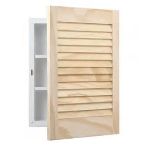 Unfinished Pine Bathroom Wall Cabinet by Basic Pine Louver Recessed Medicine Cabinet Unfinished
