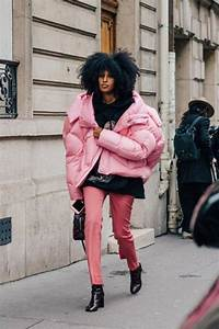Jacket pink winter outfit pink jacket puffer jacket oversized oversized jacket top black ...