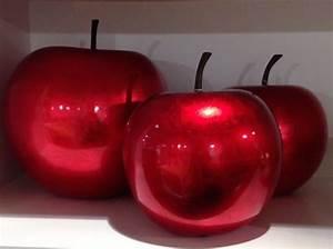 Pomme Rouge Deco : pomme d corative finition laqu e rouge nacr mod le m d coration ~ Teatrodelosmanantiales.com Idées de Décoration