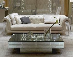 10 high end designer coffee tables for Mirrored coffee table and end tables