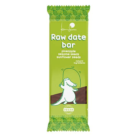 Raw dateļu batoniņi: Raw dateļu batoniņš ar ananāsiem