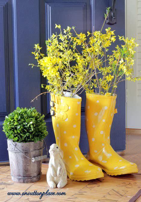 Rain Boot Vase On Sutton Place