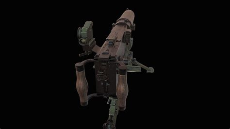 mg heavy machine gun  model game ready max obj fbx