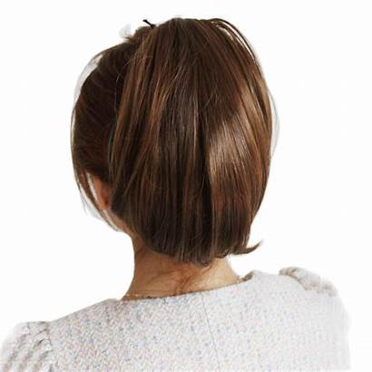 Ponytail Straight Short Wig Female Pear Curly