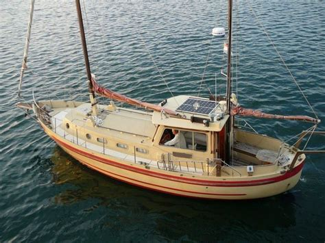 Motor sailer fisher 37 yacht sailing at plymouth, uk. 1970 Fisher 37 Banjer Power New and Used Boats for Sale