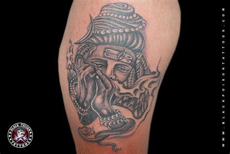 lord shiva tattoo  chillum black poison tattoo studio