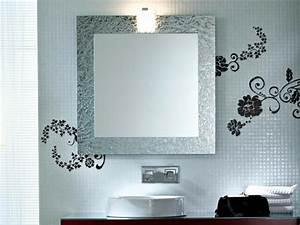 miroir de salle de bain a lencadrement design design feria With miroir salle de bain design