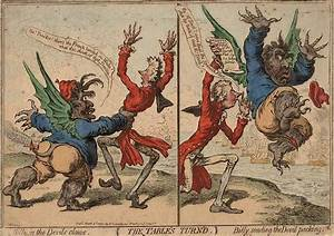 Gilray 'The Table's turned - Billy in the devil's claws ...