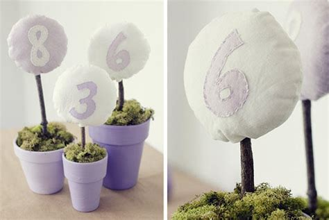 Diy Fabric Table Numbers Once Wed