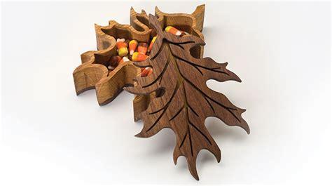 scroll  oak leaf box scroll  woodworking crafts