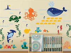 ocean friends wall decal under the sea wall decal octopus With under the sea wall decals