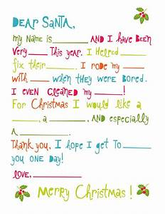 printable christmas games for kids and adults With toddler letter to santa