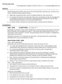resume exles for retail retail resume exle retail industry sle resumes