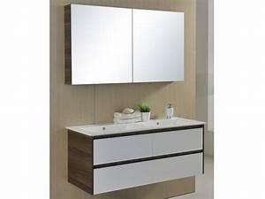 ensemble de salle de bain adele suspendu double vasque et With comparateur meuble salle de bain